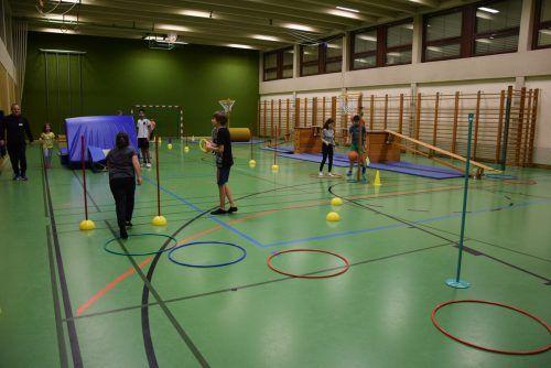 Bei der umfassenden Mittelschul-Sanierung wird unter anderem auch der Boden in der Turnhalle erneuert.Archiv/MS SUlz-Röthis