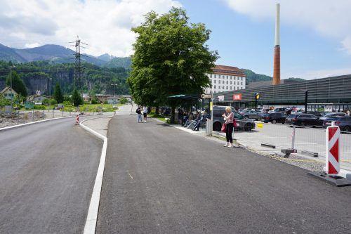 Beim Lünerseepark in Bürs wurde im Zuge der Straßenbaumaßnahmen kürzlich auch eine neue Bushaltestelle errichtet. Gemeinde