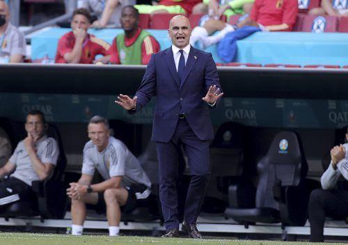 Belgiens Roberto Martinez musste fast auf Gebärdensprache zurückgreifen.ap