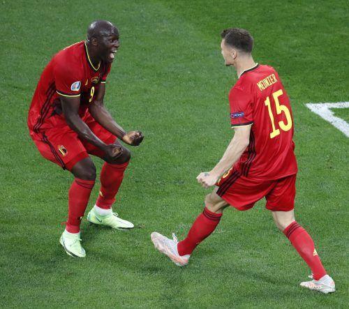 Belgiens Romelu Lukaku war für die Russen nicht zu halten und erzielte zwei Tore.ap
