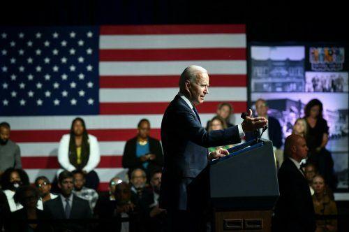 Biden rief zur Aufarbeitung von Rassismus in der US-Geschichte auf. AFP