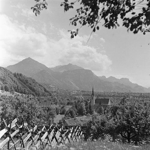 Blick auf Haselstauden zwischen 1920 und 1962.
