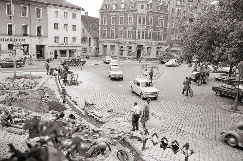 Bregenz, Kornmarktplatz, 1970