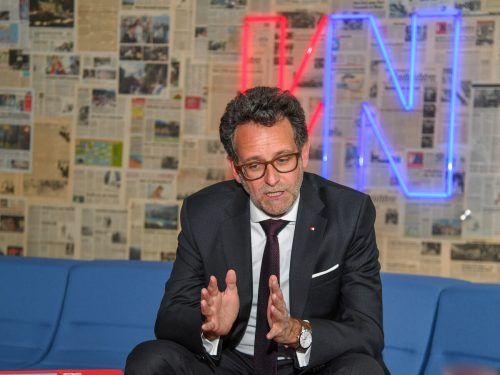 BTV-Vorstandschef Burtscher spricht von hoher krimineller Energie.VN/Lerch