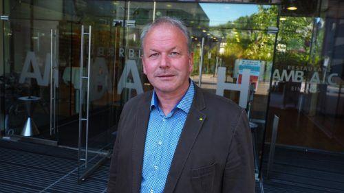 Bürgermeister Christian Loacker im Gespräch mit der VN-Heimat.Egle
