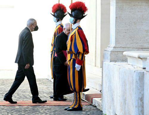 Bundespräsident Alexander Van der Bellen stattete dem Vatikan einen Besuch ab. APa