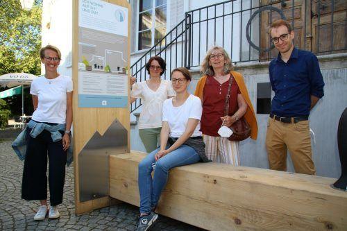 Christina Connert, Christine Melià, Karoline Schirmer, Umweltstadträtin Marlene Thalhammer und Klubobmann von Feldkirch blüht, Clemens Rauch.