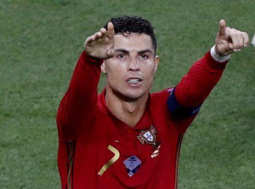 Cristiano Ronaldo führt die EM-Torschützenliste mit fünf Treffern an.Reuters