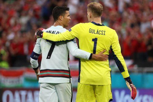Cristiano Ronaldo und Peter Gulacsi drückten dem Spiel den Stempel auf.apa