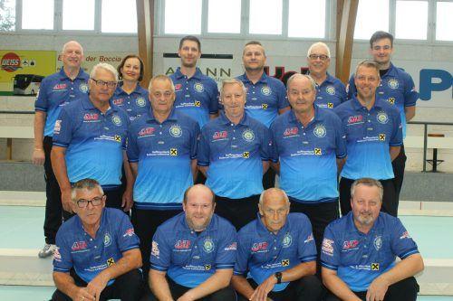 Das Meisterteam des BC Hard in der Boccia-Bundesliga.Verein