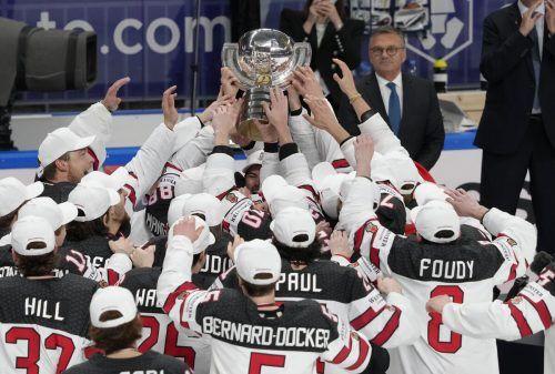 Das Nationalteam von Kanada triumphierte in Riga zum 27. Mal beim einer Eishockey-Weltmeisterschaft.Reuters