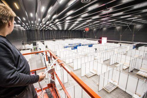 Das Notversorgungszentrum in der Halle 11 blieb einmal mehr unbenutzt und wird derzeit abgebaut und eingelagert.vn/steurer