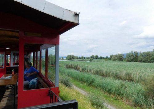 Das Rheinbähnle fährt am Sonntag zu den Schleienlöchern.mima