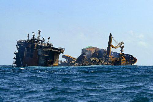 Das Schiff war mit Chemikalien, darunter 25 Tonnen Salpetersäure, beladen. AFP