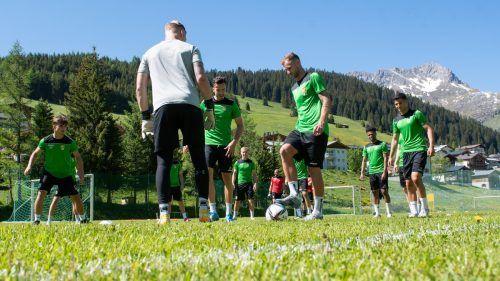 Das Team von Austria Lustenau kam während der Trainings in den Genuss eines herrlichen Panoramas.gepa