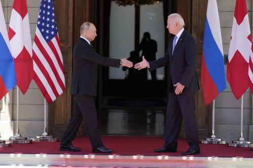 Das Treffen von Putin und Biden fand in Genf statt. AP