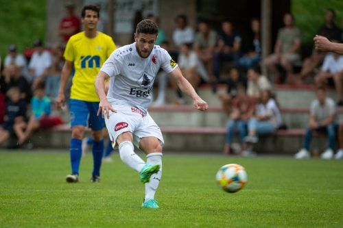 """Der Brasilianer Rafhael """"Rafhinha"""" Domingues erzielte drei Treffer beim 5:1-Erfolg des FC Egg über Wolfurt.VN/Lerch"""
