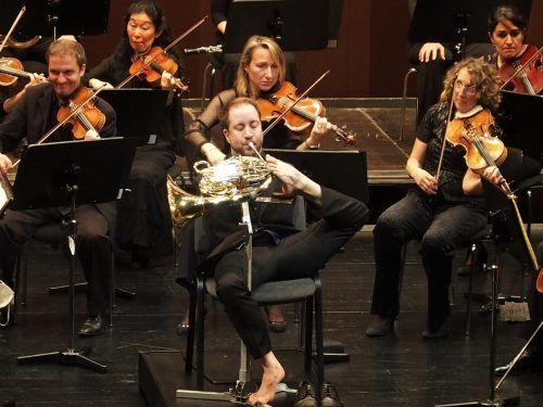 Der deutsche Hornist Felix Klieser begeisterte mit der Camerata Salzburg in der Reihe Dornbirn Klassik. ju