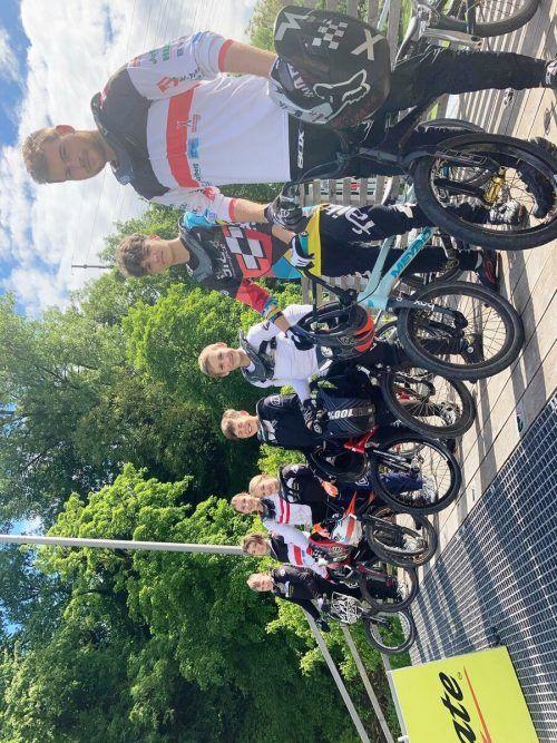 Der Kader des BMX-Clubs Sparkasse Bludenz trainierte in Luzern.BMx-club sparkasse bludenz