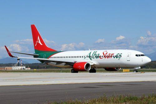 Die Airline Alba Star fliegt zweimal wöchentlich nach Mallorca.albastar
