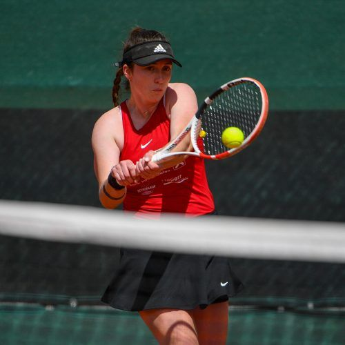 Die Australierin Monique Burton (Bild) siegte mit nur drei abgegebenen Games über Bettina Kreindl.VN-Lerch