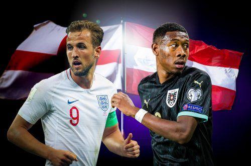 Die beiden teuersten Spieler ihrer Auswahl, Englands Harry Kane (links) und Neo-Real-Spieler David Alaba.gepa
