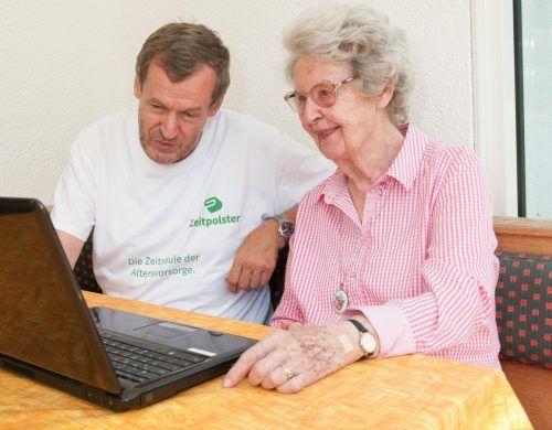 Die ehrenamtlichen Helfer von Zeitpolster unterstützen mit einfachen alltäglichen Hilfestellungen.Zeitpolster