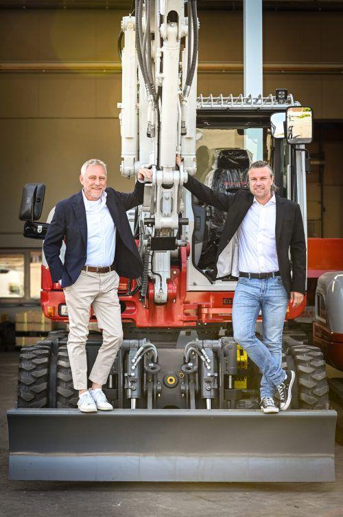Die Eigentümer Joachim Alge und Reinhard Schertler. u.mittelberger