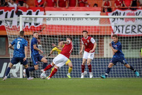 Die Einwechslung von Marko Arnautovic (am Ball) hat einmal mehr gezeigt, dass der China-Legionär im Team der Österreicher den Unterschied ausmachen kann.gepa