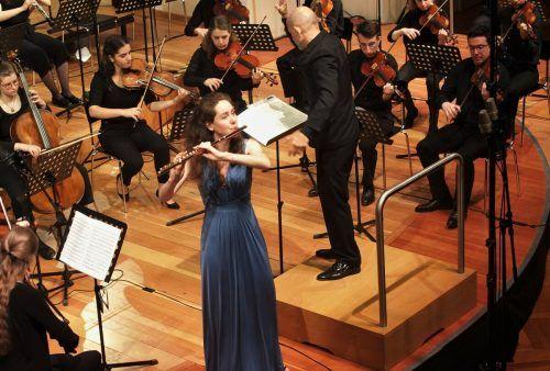 Die FlötistinHéléna Macherel wurde bereits in Berlin und New York unterrichtet und studiert nun in Feldkirch.