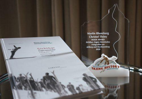 "Die International Skiing History Association prämiert das Buch ""Sichtbar"" mit dem Skade Award. Martin Rhomberg"