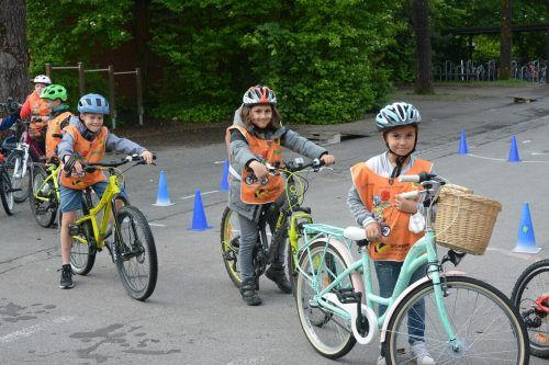 Die Kinder hatten viel Spaß beim Radeln.