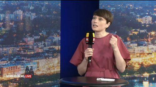 Die Klubobfrau der Grünen stellte sich neben der Nachfolge von Johannes Rauch vor allem bundespolitischen Fragen. Vorarlberg live