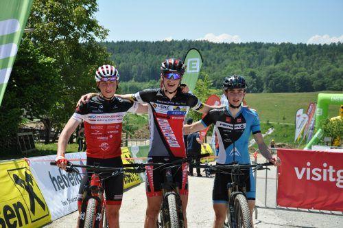 Die Nachwuchsbiker aus Dornbirn zeigten Kampfgeist, der am Ende mit zahlreichen Medaillen belohnt wurde.cth (2)