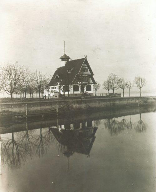 """Die neue Gaststätte am Bregenzer Seeufer wurde am 16. Mai 1907 als """"Sporthaus am See"""" eröffnet."""
