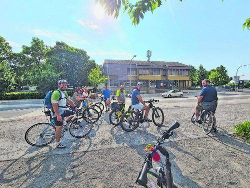 Die Rankweiler Gemeindepolitiker machten sich mit dem Fahrrad auf nach Wolfurt, um das dortige Verkehrskonzept in Augenschein zu nehmen.Marktgemeinde