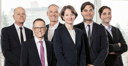 Die RTG-Partner v.l.r.: Manfred Rümmele, Peter Kögl, Alfred Geismayr, Birgit Jochum, Leopold Schurz und Ferdinand Schurz. FA