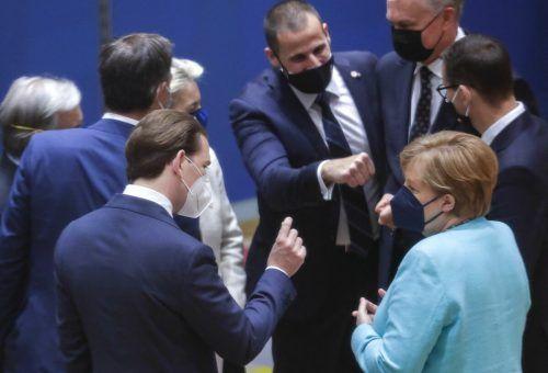 Die Staats- und Regierungschefs der EU berieten sich in Brüssel. AFP