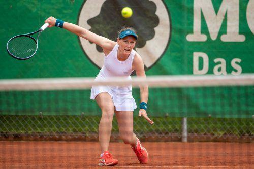 Die topgesetzte Laura Schaeder gab gegen Nina Walter kein Game ab.VN-Lerch