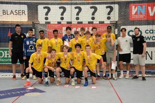 Die Unter-15-Burschen von Bregenz Handball holten sich den Vizemeistertitel in der ÖHB-Meisterschaft 2020/21.Ibele