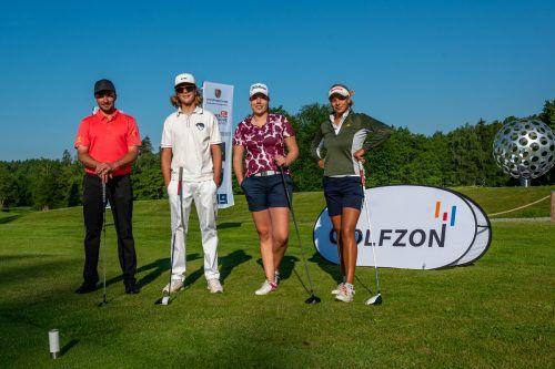 Die Vorarlberger Golf-Aushängeschilder Michael Vonbank, Igor Hänel, Julia Unterweger und Chantal Düringer bildeten in Weißensberg den Elite-Flight.Lerch