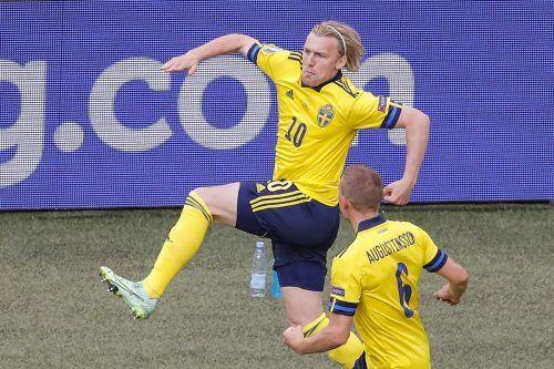 Emil Forsberg macht Superstar Zlatan Ibrahimovic vergessen, der Leipzig-Stürmer blühte bei der EURO auf.APA