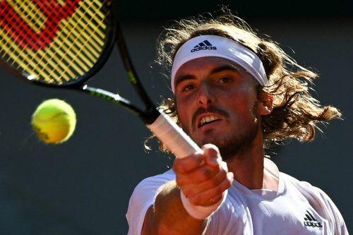 """Emotionen bei Stefanos Tsitsipas: """"Ich bin sehr glücklich, dass Griechenland auf der Tennis-Weltkarte jetzt groß drauf ist.""""apa"""