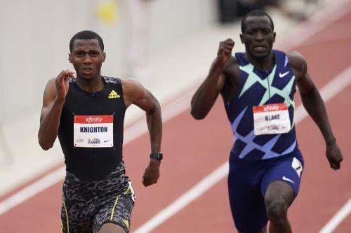 Erriyon Knighton unterbot die U-18-Weltbestmarke von Usain Bolt.ap