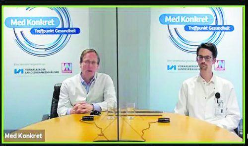 Primar Stefan Mennel (l.) und Facharzt Michael Ess informierten die Zuseher umfassend.vn