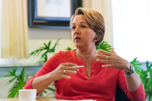 Die Dornbirner Bürgermeisterin und Präsidentin des Gemeindeverbandes fordert pensionsrechtliche Ansprüche für Bürgermeister. VN/Stiplovsek