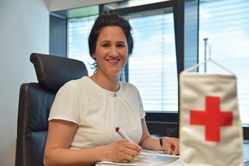 Für Janine Gozzi war es am Dienstagabend die erste Generalversammlung als Rotkreuz-Geschäftsführerin.rotes kreuz