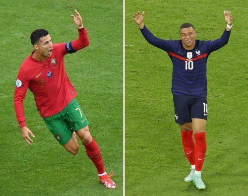 Gipfeltreffen der Stars: Portugals Cristiano Ronaldo und Frankreichs Kylian Mbappe.apa