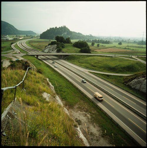 Götzis, Autobahn, 1975