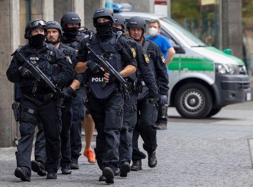 Großeinsatz der Polizei in der fränkischen Stadt. Der mutmaßliche Täter wurde festgenommen. Reuters